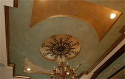 gold and silver ceiling