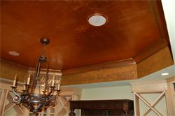 copper gilded ceiling