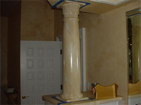 : Marbleized column